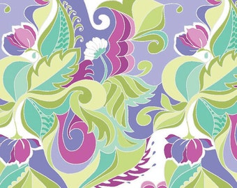 Riley Blake Designs Fabric Extravaganza Floral Purple Fabric - 1 yard