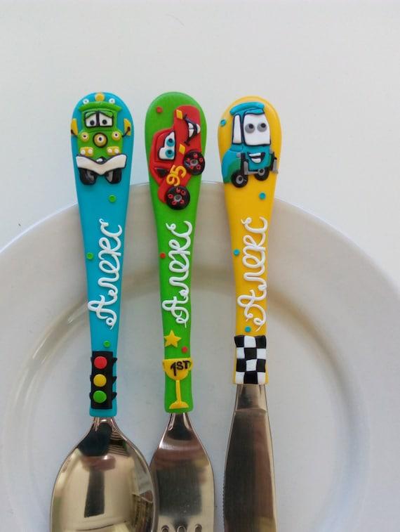Personalisiertes Kinderbesteck personalisierte kinder besteck set farbig gabel und löffel