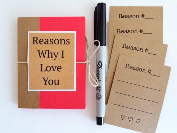 Reasons why i love you book boyfriend gift mini i love you like this item negle Gallery