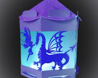 Fairy and Dragon Lantern for battery tea lights DIGITAL download