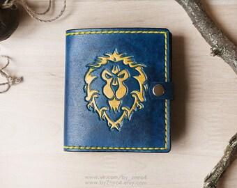 Warcraft Alliance Wallet, Alliance Logo, World of Warcraft Alliance Purse, Wow Geek Gift, Leather Wow Wallet with Logo, Warcraft Wallet
