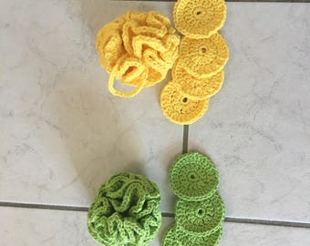 Body wash puff and face scrubbies
