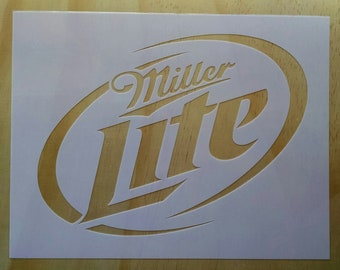 Miller Light Stencil