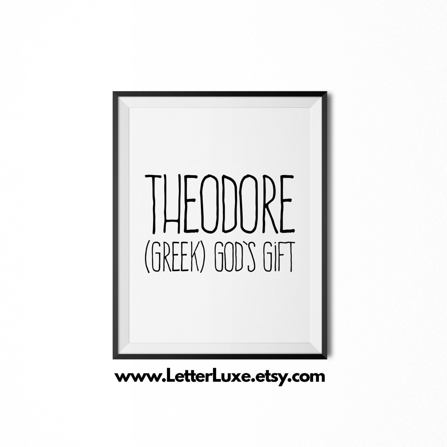 Theodore name meaning art printable baby shower gift zoom negle Image collections