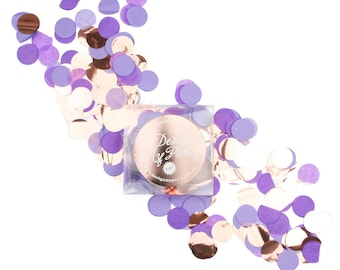 Blueberry Glam Confetti - Purple Lavendar Mix, Rose Gold Copper