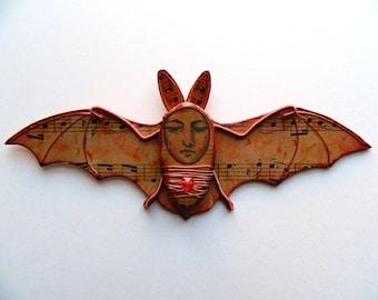 Fledermaus-Wandbehang, Vampir-Fledermaus, Kreatur-Wand-Dekor, des Todes, Eve Dekor, Fledermaus-Dekor, Halloween-Geschenk, schrulligen Fledermaus Dekor, Halloween-Dekoration