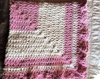 Baby Blanket/Afghan/Soft/Made with Bernat Baby Blanket Yarn