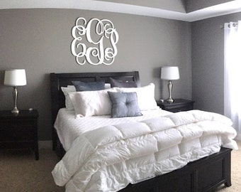 Painted Monogram Wall Letters, Monogram Wall Art, Wall Hanging Wooden Monogram, Nursery Monogram, Bedroom Monogram, Large Wooden Letters