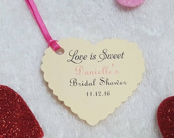 Personalized Favor Tags 2', Wedding tags, Thank You tags, Favor tags, Gift tags, Bridal Shower Favor Tags, heart shape