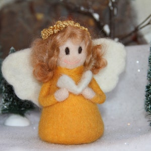 Christmas Handcrafted Needle Felted Wool Doll - Precious Customized Angel