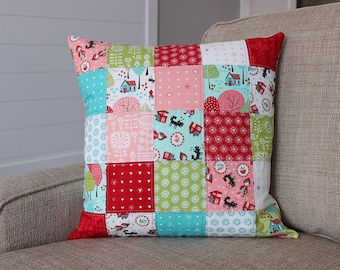 Lil Red Little Red Riding Hood Quilted Pillow COVER