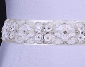 Wedding belt, Bridal belt, Pearl belt, Rhinestone belt, Sash Belt, Wedding Accessory, Bridal Accessories