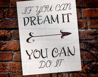 Dream It - Do - It - Arrow - Word Art Stencil - Select Size - STCL2172 - by StudioR12