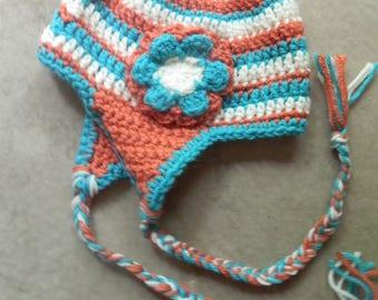 Crochet Ear Flap Kids Hat