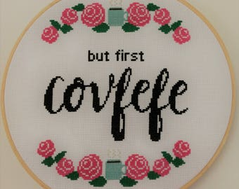 But first Cofveve cross stitch pattern, instant PDF download