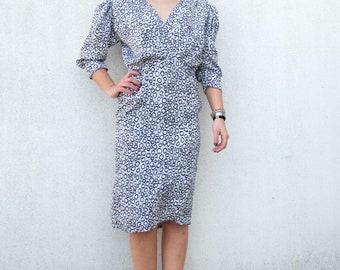 Vintage clothing - vintage dress 1980s - Animalier dress