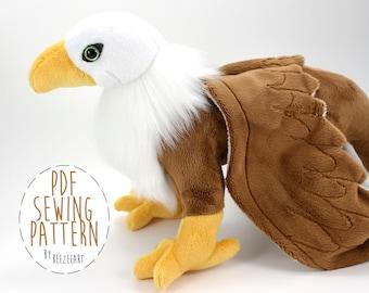 Gryphon patron de couture, patron PDF de Griffin peluche Animal en peluche