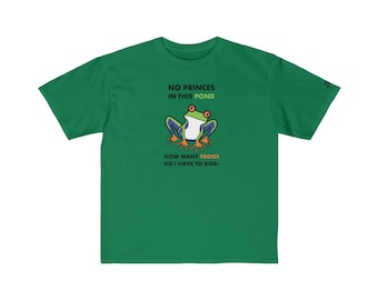 Kids Retail Fit Tee  Animals Frog Colored Print