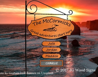RV Camping Sign Etsy - Wooden Name Sign - Chalkboard  Family Name Sign - JGWoodSigns -Outdoor Sign Personalized Gift Dad Gift McCormick