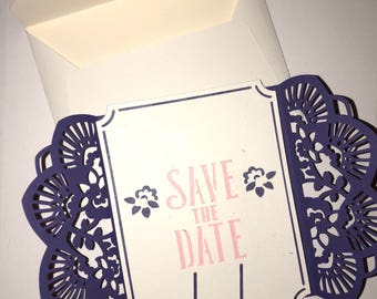 Rustic Save The Date Cards, Tying the Knot Card