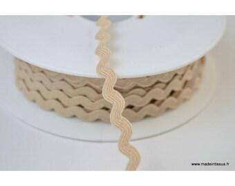 Serpentine Croquet plain Beige 9 mm x1m