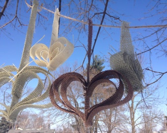 Burlap Heart Garland, Wedding, Shower, Party Decor