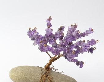 Amethyst Tree of Life on River Rock