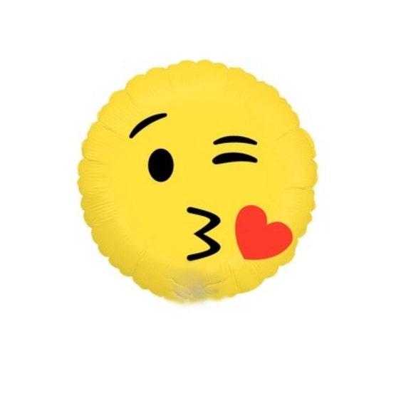 Emoji Balloon 18 Emoji Kiss Emoticon Love Smiles