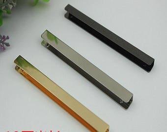 10-100pcs  5cm 10cm Light gold leather bag  Metal Edge protector Strip Handbag Snap High-end ,leather bag edge wrapping strip  KS-622