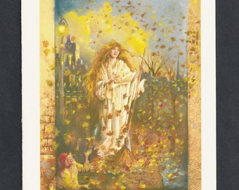 Mary of The Leaves Blank Greeting Card by Tony Troy