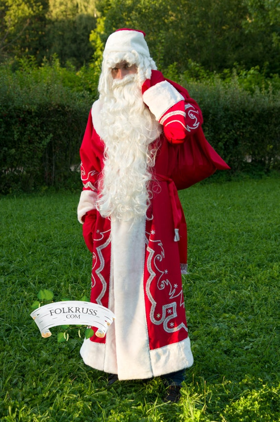 Costume ded moroz russian santa claus father frost