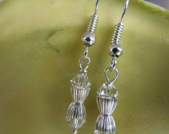 Pure Elegance Swarovski Clear Crystal Handcrafted Earrings