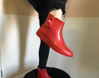 Vintage Red Rain Boots