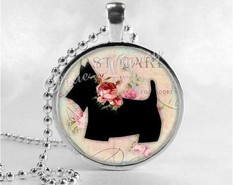 SCOTTIE Dog Necklace, Scottie Dog Jewelry, Scottish Terrier Jewelry, Scottie Dog, Scotty Dog, Dog Necklace, Glass Photo Art Pendant Necklace