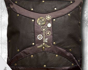 Steam 2 - steampunk decorative pillow