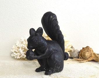 vintage squirrel sprinkler black cast metal cast iron squirrel water sprinkler