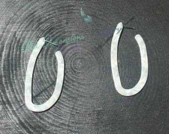 Geometric U Shape Acrylic Drop Earrings