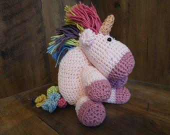 Crochet Amigurumi Unicorn Soft Toy Cuddly