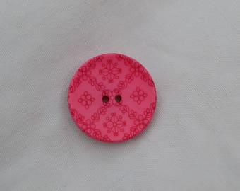 button round fancy 23mm diam.