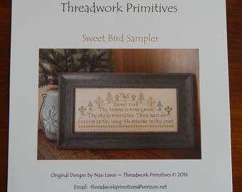 Sweet Bird Sampler by Threadwork Primitives