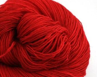 Hoosic Hand Dyed sport weight wool mohair blend 400 yds 4oz Bing Cherry