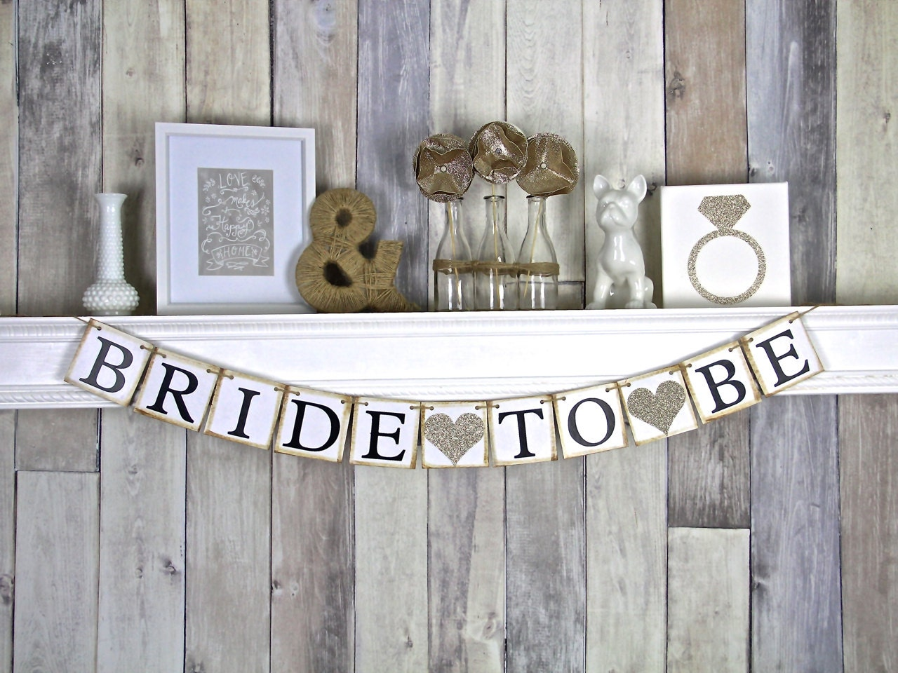 Bride To Be Banner Bridal Shower Decor Bachelorette Party