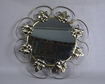 Mirror with metal frame-1970s-sunburst-Solar mirror