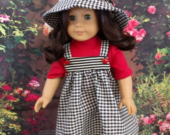 Fun Three Piece Spring Ladybug Outfit for 18 Inch Dolls