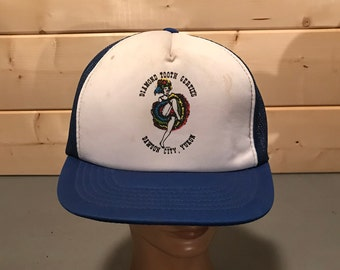 Vintage 1990's Colorful Semi  SnapBack Trucker Hat