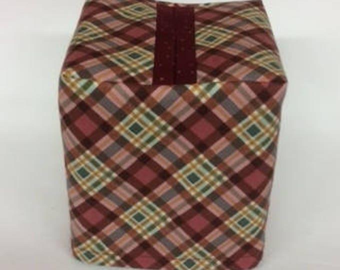 Tissue Box Cover, Bathroom Decor, Bedroom Decor, Tissue Cover, Tissue Box Holder, Fabric Cover, Plaid,