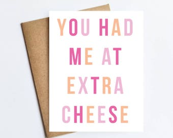 Extra Cheese - NOTECARD - FREE SHIPPING!