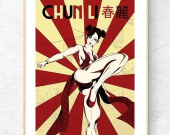 Chun Li Street Fighter Limited Signed Poster Print Wall Art