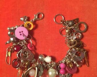 Pink FOUND Charm Bracelet