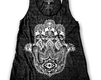 Ethnic Hamsa graphic print Women's Racerback Tank Top